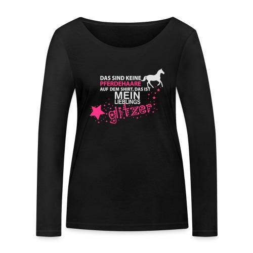 Vorschau: Glitzer Pferd - Frauen Bio-Langarmshirt von Stanley & Stella