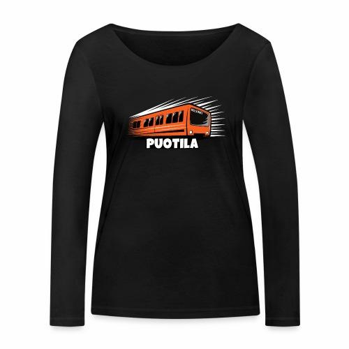 HELSINKI PUOTILA METRO T-Shirts, Hoodies, Gifts - Stanley & Stellan naisten pitkähihainen luomupaita