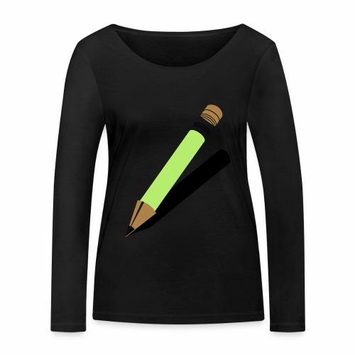 Ołówek - Ekologiczna koszulka damska z długim rękawem Stanley & Stella