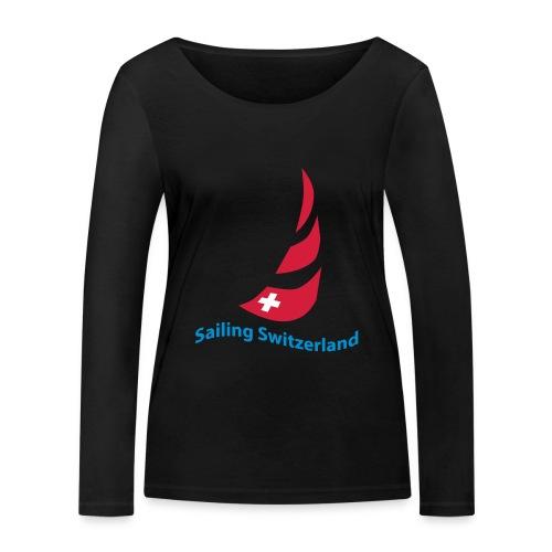 logo sailing switzerland - Frauen Bio-Langarmshirt von Stanley & Stella