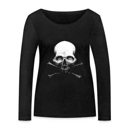 Old Skull - Maglietta a manica lunga ecologica da donna di Stanley & Stella