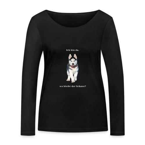 Husky Welpen mit bezaubernden Augen - Frauen Bio-Langarmshirt von Stanley & Stella