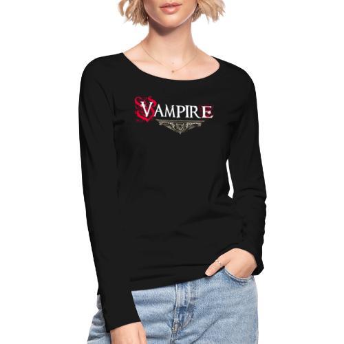 Vampire - Maglietta a manica lunga ecologica da donna di Stanley & Stella