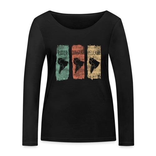 Ramer-Douglas-Peucker Stripes - South America - Women's Organic Longsleeve Shirt by Stanley & Stella