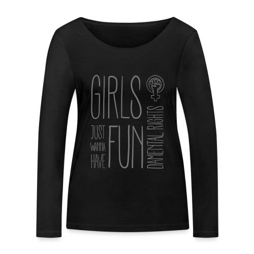 Girls just wanna have fundamental rights - Frauen Bio-Langarmshirt von Stanley & Stella