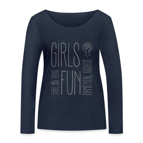 Girls just wanna have fundamental rights - Frauen Bio-Langarmshirt von Stanley & Stella