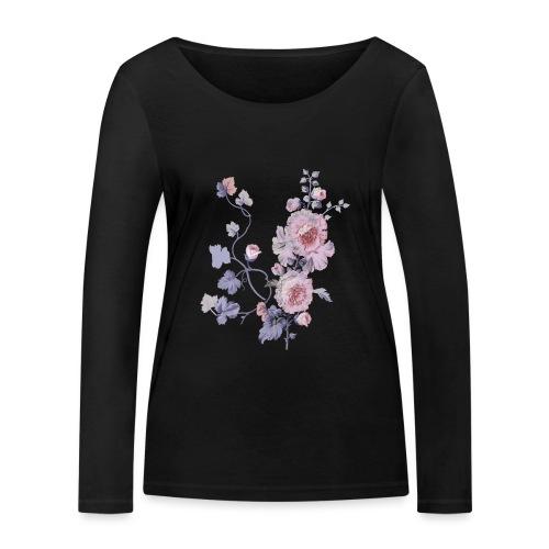 Schlichte Blumen - Frauen Bio-Langarmshirt von Stanley & Stella