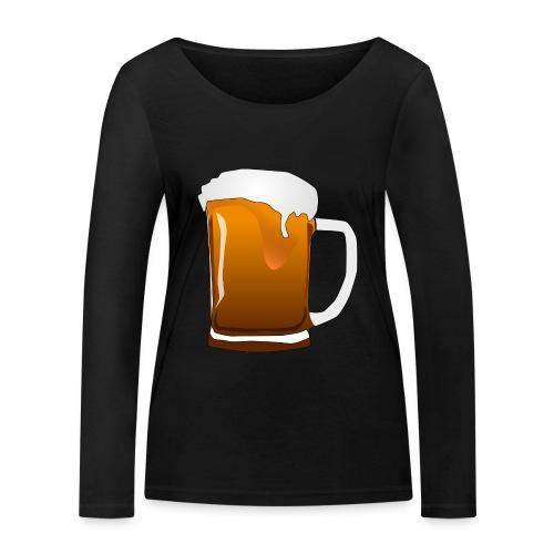 Cartoon Bier Geschenkidee Biermaß - Frauen Bio-Langarmshirt von Stanley & Stella