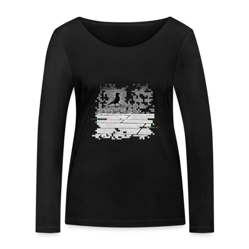 Der Rabe - Frauen Bio-Langarmshirt von Stanley & Stella