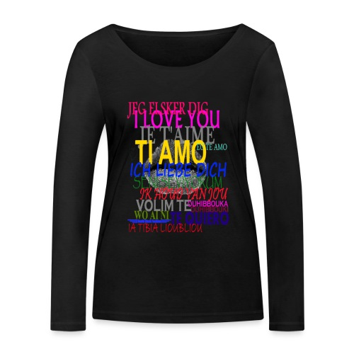 I love you - T-shirt manches longues bio Stanley & Stella Femme