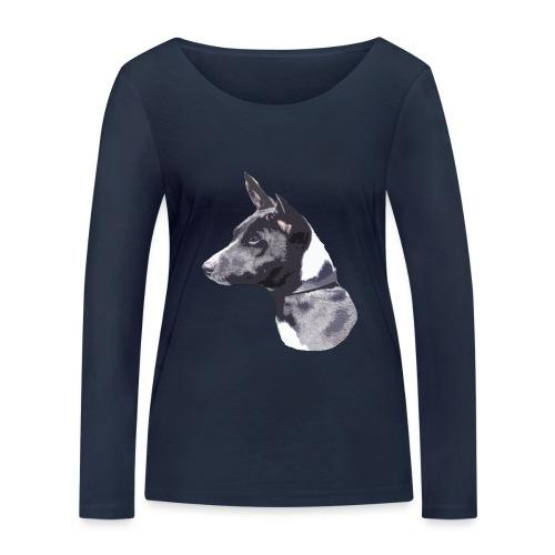 basenji black - Økologisk Stanley & Stella langærmet T-shirt til damer