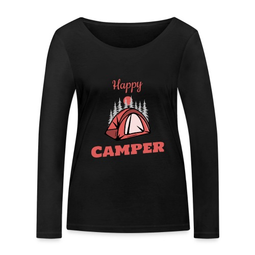 Happy Camper - Frauen Bio-Langarmshirt von Stanley & Stella