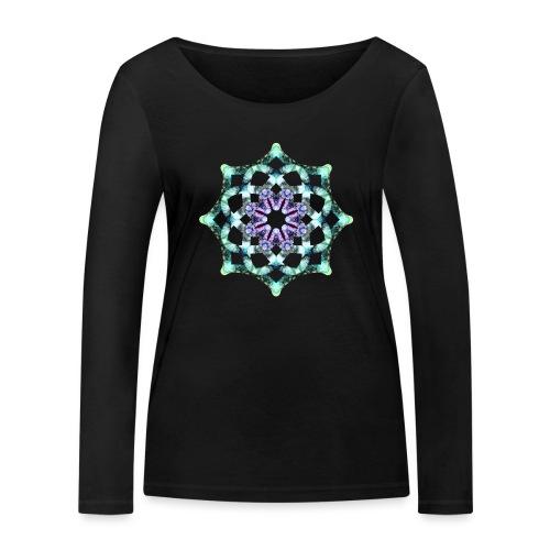 Yoga Mandala Symbol grün - Frauen Bio-Langarmshirt von Stanley & Stella