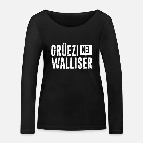 Grüezi – Nei, Walliser - Frauen Bio-Langarmshirt von Stanley & Stella