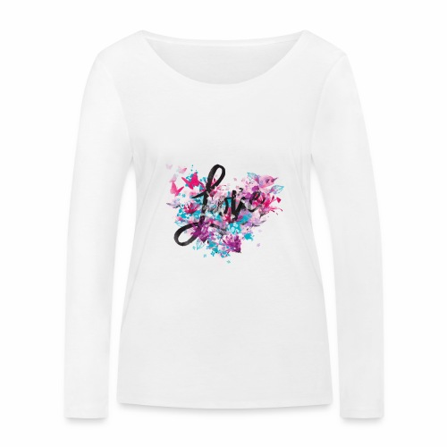 Love with Heart - Women's Organic Longsleeve Shirt by Stanley & Stella