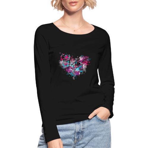 Love with Heart - Women's Organic Longsleeve Shirt by Stanley & Stella