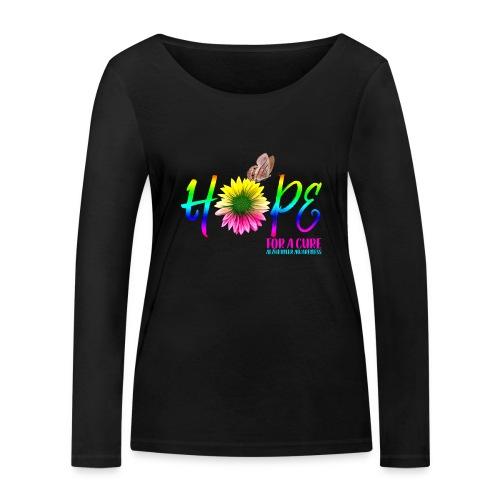 Hope For A Cure Alzheimer Awareness - Women's Organic Longsleeve Shirt by Stanley & Stella