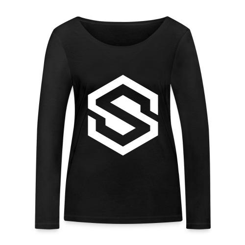safecoin mark white - Women's Organic Longsleeve Shirt by Stanley & Stella