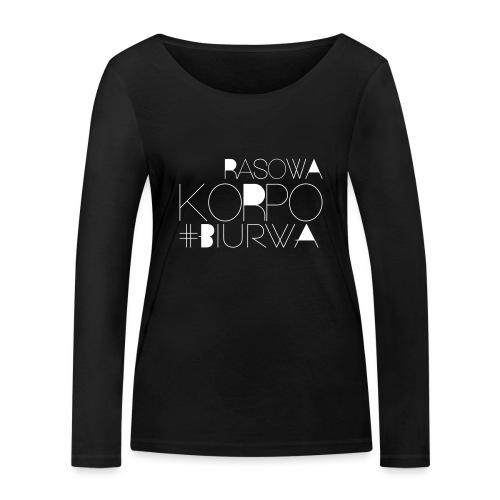 Rasowa Korpo Biurwa BLACK - Ekologiczna koszulka damska z długim rękawem Stanley & Stella