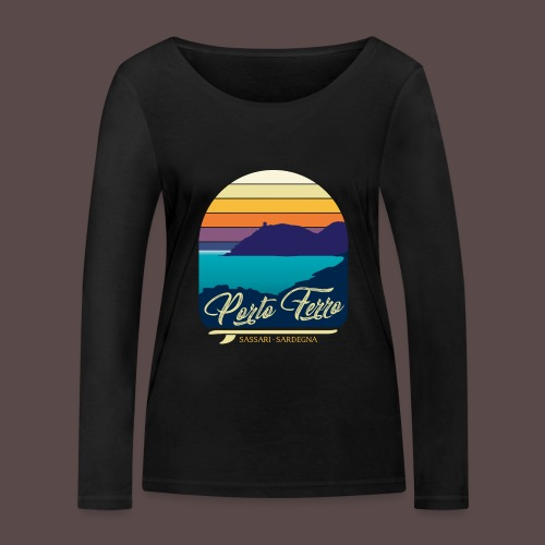Porto Ferro - Vintage travel sunset - Maglietta a manica lunga ecologica da donna di Stanley & Stella
