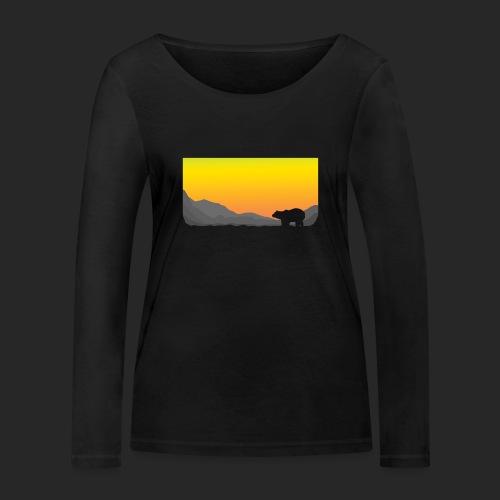 Sunrise Polar Bear - Women's Organic Longsleeve Shirt by Stanley & Stella