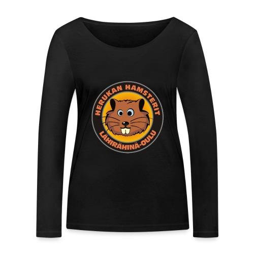 Herukan Hamsterit - Stanley & Stellan naisten pitkähihainen luomupaita