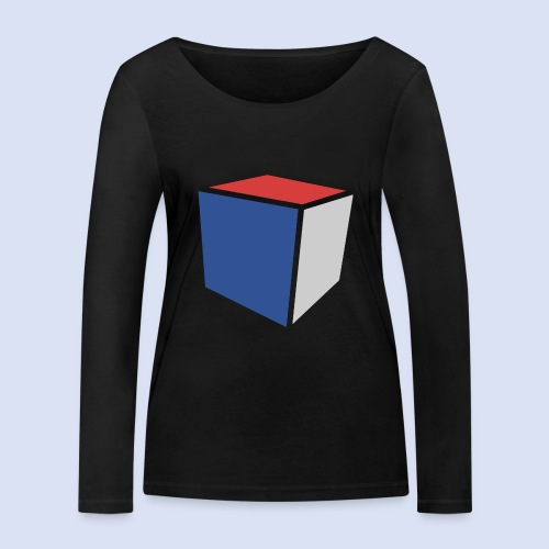 Cube Minimaliste - T-shirt manches longues bio Stanley & Stella Femme
