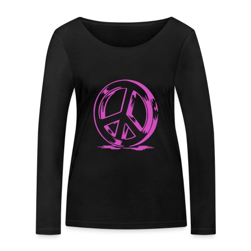 Peace and Love - T-shirt manches longues bio Stanley & Stella Femme