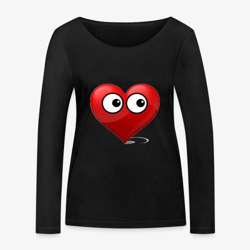 cœur avec yeux - T-shirt manches longues bio Stanley & Stella Femme