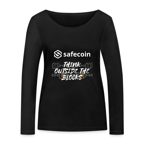 Safecoin Think Outside the Blocks (white) - Women's Organic Longsleeve Shirt by Stanley & Stella