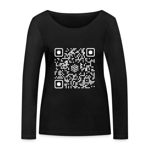QR Safenetforum White - Women's Organic Longsleeve Shirt by Stanley & Stella