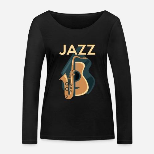 Jazz Gitarre mit Saxophon - Frauen Bio-Langarmshirt von Stanley & Stella