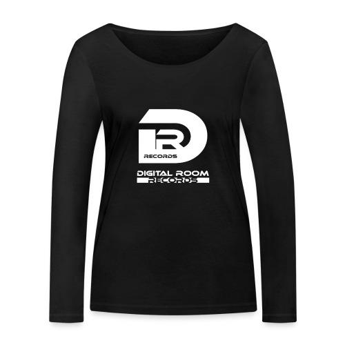 Digital Room Records Official Logo white - Women's Organic Longsleeve Shirt by Stanley & Stella