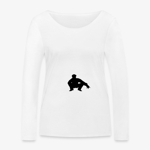 ''Take a squat'' Women's hoodie - Women's Organic Longsleeve Shirt by Stanley & Stella
