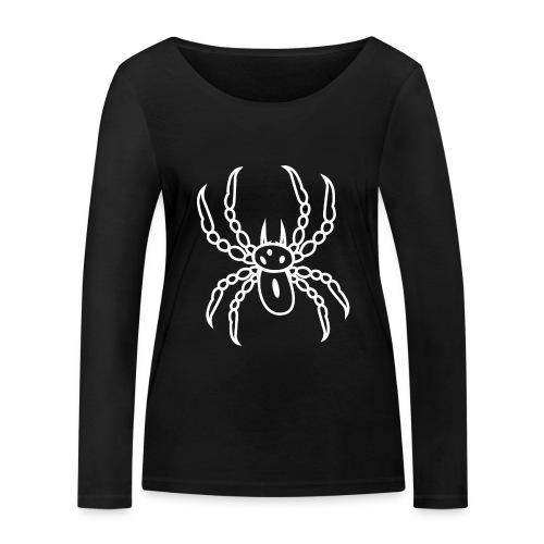 Spinne weiss - Frauen Bio-Langarmshirt von Stanley & Stella