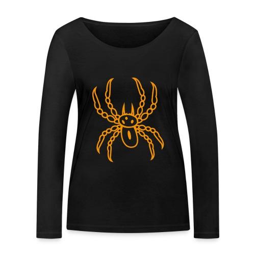 Spinne orange - Frauen Bio-Langarmshirt von Stanley & Stella