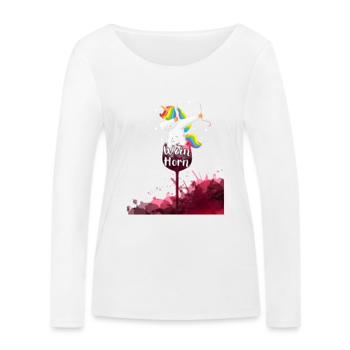 Weinhorn Splash Einhorn Design - Frauen Bio-Langarmshirt von Stanley & Stella