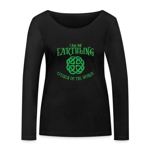 EARTHLING Green the earth - Ekologisk långärmad T-shirt dam från Stanley & Stella