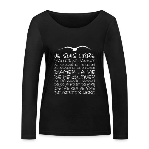 J SUIS LIBRE - T-shirt manches longues bio Stanley & Stella Femme