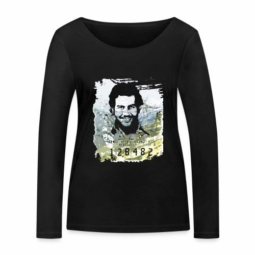 Pablo Escobar distressed - Frauen Bio-Langarmshirt von Stanley & Stella