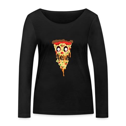 Schockierte Horror Pizza - Frauen Bio-Langarmshirt von Stanley & Stella