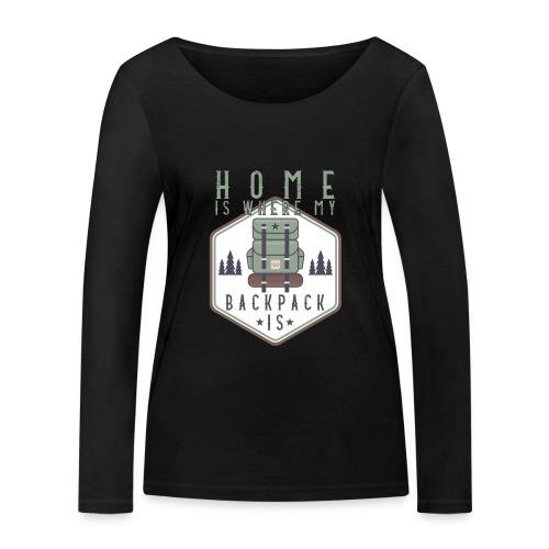 Home Is Where My Backpack Is - Frauen Bio-Langarmshirt von Stanley & Stella