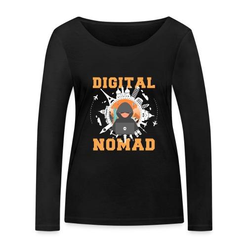 Digital Nomad - Frauen Bio-Langarmshirt von Stanley & Stella