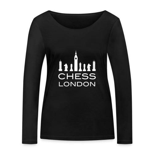 Schach London Weltmeister Schachfigur Geschenk - Frauen Bio-Langarmshirt von Stanley & Stella