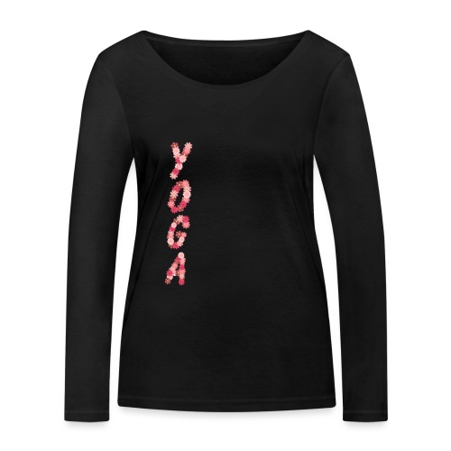 yoga flower - Women's Organic Longsleeve Shirt by Stanley & Stella