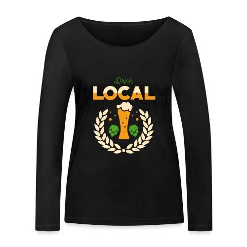 Local beer / Regional beer - Women's Organic Longsleeve Shirt by Stanley & Stella
