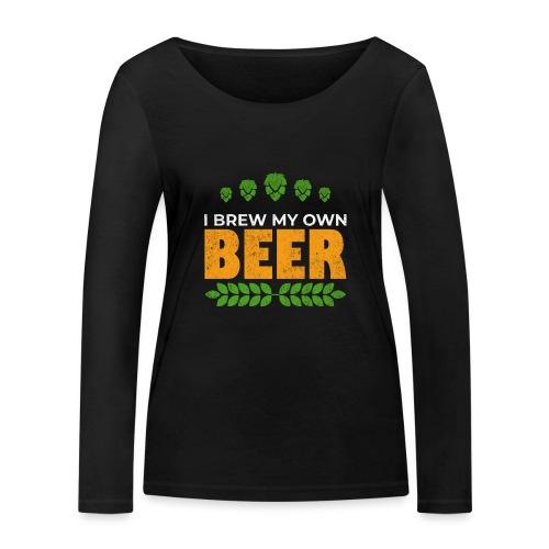 Brewer / beer fan gift idea - Women's Organic Longsleeve Shirt by Stanley & Stella