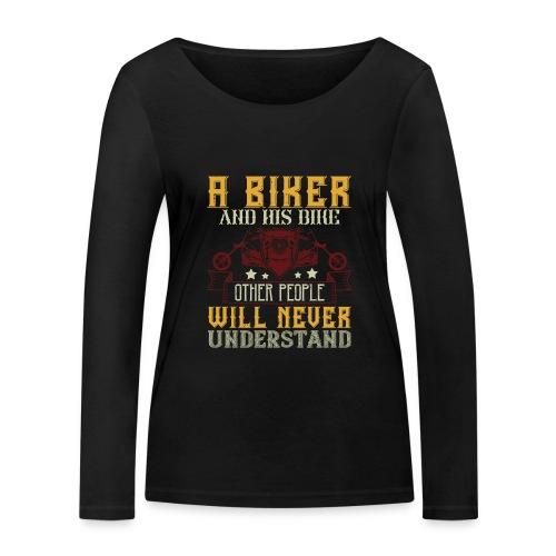 A biker and his bike. - Women's Organic Longsleeve Shirt by Stanley & Stella