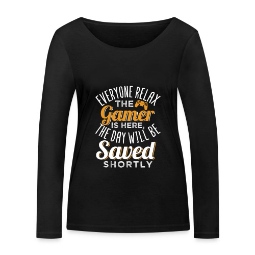 Relax The Gamer Is Here - Frauen Bio-Langarmshirt von Stanley & Stella