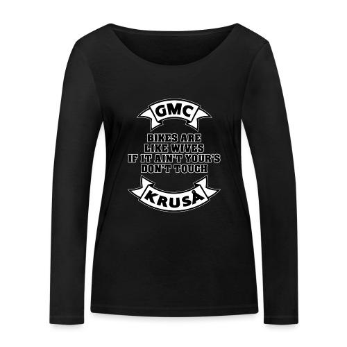 GMC cykler er som kvinder - Økologisk Stanley & Stella langærmet T-shirt til damer